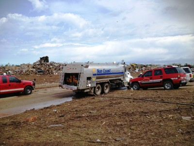 Sun Coast Resources emergency fuel response to tornado affected areas.