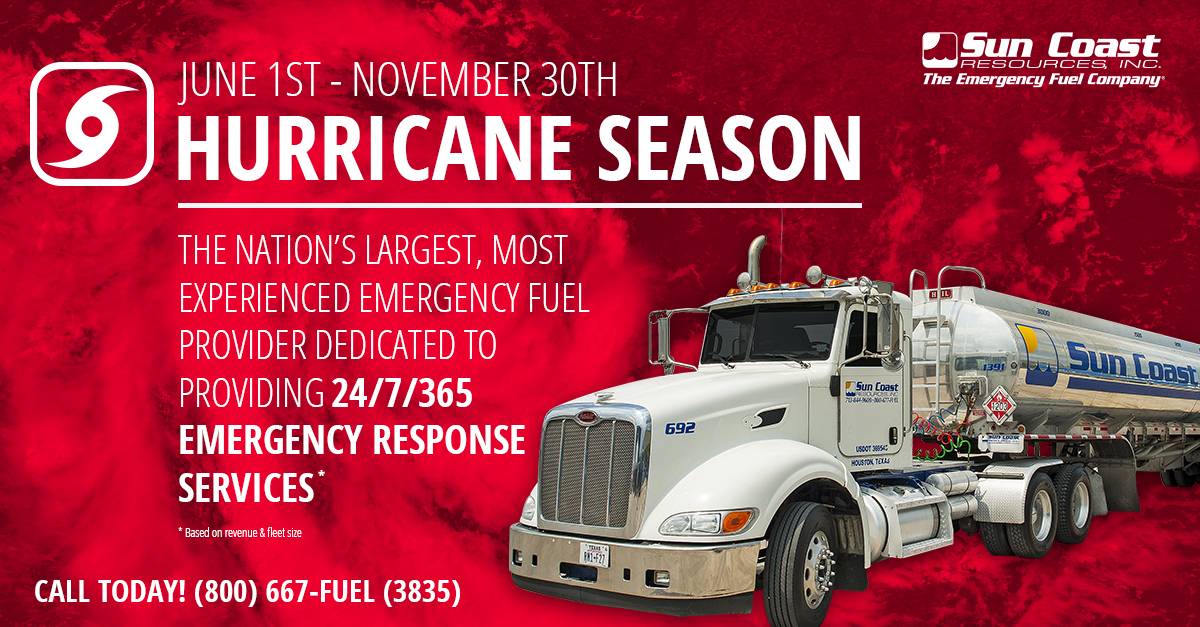 Sun Coast Resources hurricane season prepared for the 2019 hurricane season.